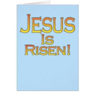 イエス・キリストは上がります! (青の金ゴールド)イースターカード カード