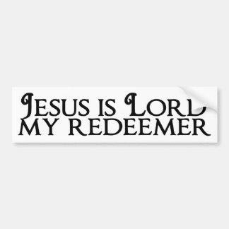 イエス・キリストは主の私の救い主です バンパーステッカー