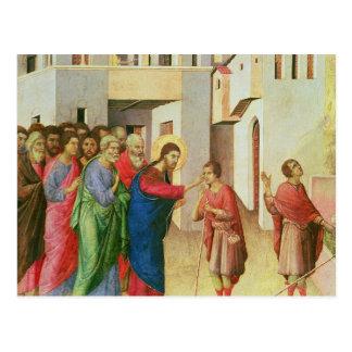 イエス・キリストは人の生まれるブラインド1311年の目を開けます ポストカード