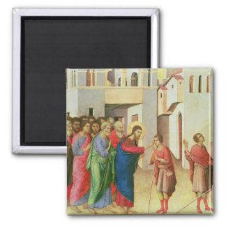 イエス・キリストは人の生まれるブラインド1311年の目を開けます マグネット