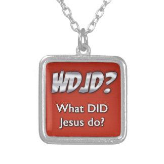 イエス・キリストは何をしましたか。 シルバープレートネックレス