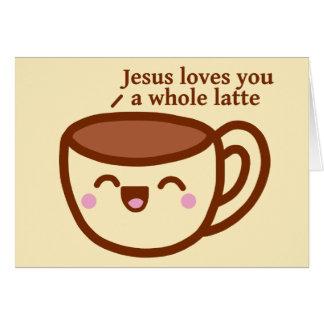 イエス・キリストは全ラテの挨拶状愛します カード