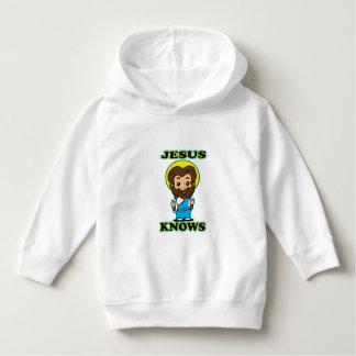 イエス・キリストは子供のフード付きスウェットシャツを知っています パーカ