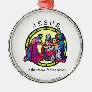 イエス・キリストは季節の理由です メタルオーナメント