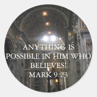 イエス・キリストは彼に、あなたならcanstの......印の9:23言いました ラウンドシール