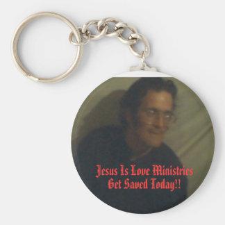 イエス・キリストは愛大臣です キーホルダー