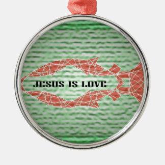 イエス・キリストは愛魚です メタルオーナメント