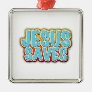 イエス・キリストは救います メタルオーナメント