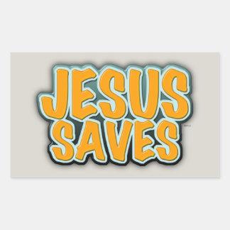 イエス・キリストは救います 長方形シール