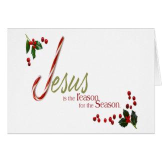 イエス・キリストは理由のクリスマスの挨拶状です カード