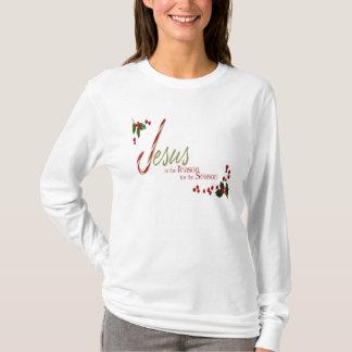 イエス・キリストは理由の女性長袖のTシャツです Tシャツ