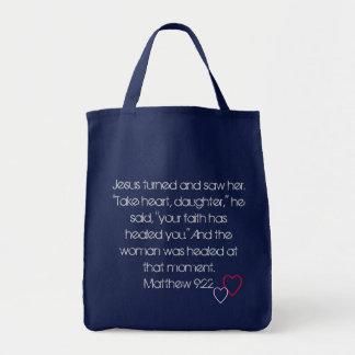 イエス・キリストは直します。 福音の買い物袋 トートバッグ
