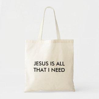 イエス・キリストは私が必要とするすべてです トートバッグ