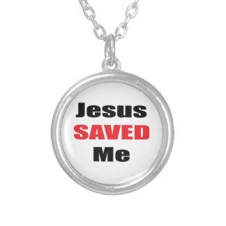 イエス・キリストは私にネックレスを救いました シルバープレートネックレス