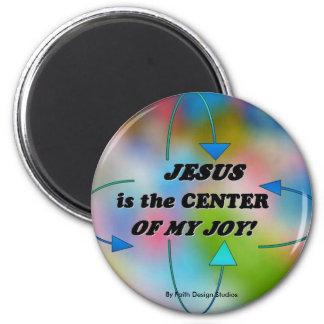 イエス・キリストは私の喜びの中心です マグネット
