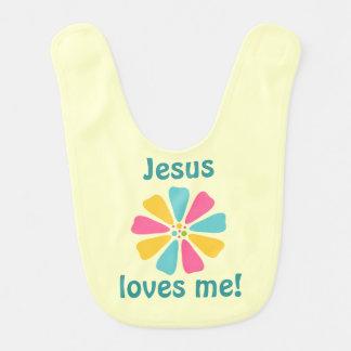 イエス・キリストは私をベビー用ビブ愛します ベビービブ