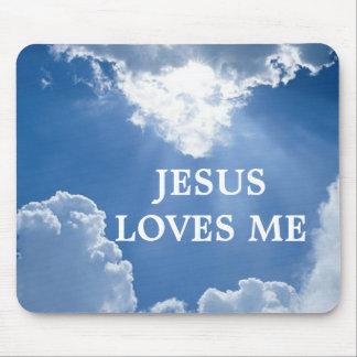 イエス・キリストは私を愛します マウスパッド