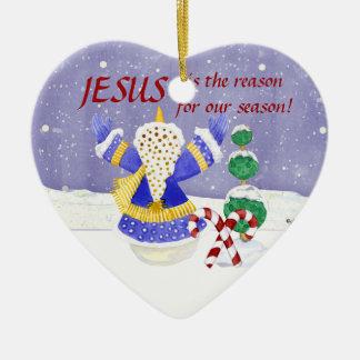 イエス・キリストは私達の季節のオーナメントの理由です セラミックオーナメント