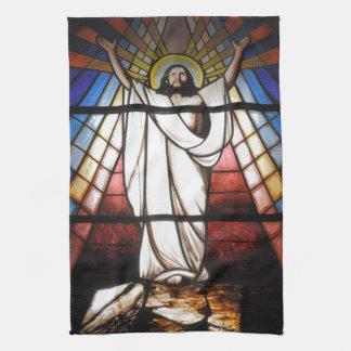 イエス・キリストは私達の救助者です キッチンタオル
