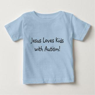 イエス・キリストは自閉症の子供を愛します! ベビーTシャツ