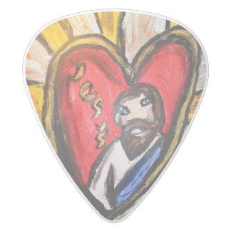 イエス・キリストは軽い輝やきです ホワイトデルリン ギターピック