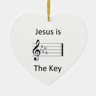 イエス・キリストは鍵です セラミックオーナメント