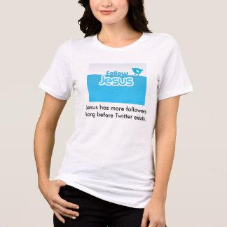 イエス・キリストを後を追って下さい Tシャツ
