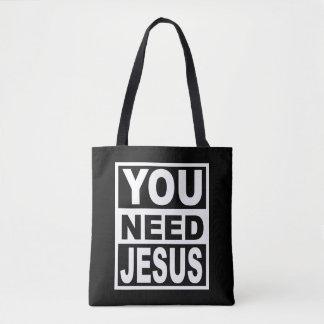 イエス・キリストを必要とします トートバッグ