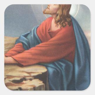 イエス・キリストを描写する記念カード スクエアシール