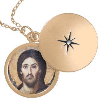 イエス・キリストアイコンネックレス ゴールドプレートネックレス