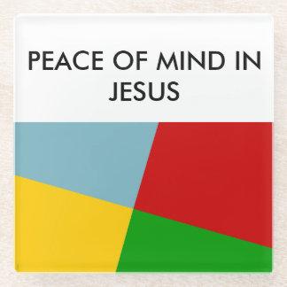 イエス・キリストガラスのコースターの心の安らぎ ガラスコースター