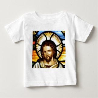 イエス・キリストステンドグラス窓 ベビーTシャツ