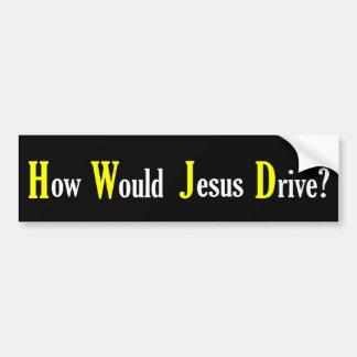 イエス・キリストドライブ-バンパーステッカーいかにか バンパーステッカー
