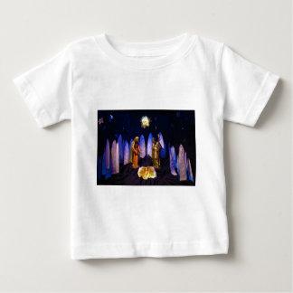 イエス・キリストベスレヘム出生場面の誕生 ベビーTシャツ