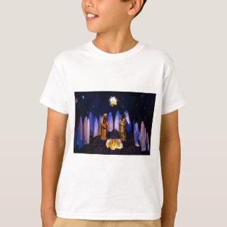 イエス・キリストベスレヘム出生場面の誕生 Tシャツ