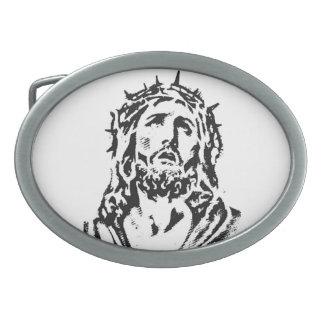 イエス・キリストベルトの留め金 卵形バックル