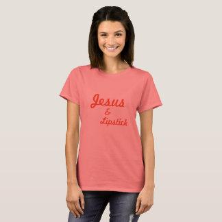 イエス・キリスト及び口紅 Tシャツ
