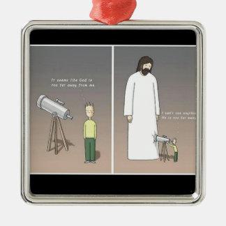 イエス・キリスト及び望遠鏡 メタルオーナメント