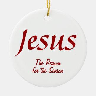 イエス・キリスト季節の理由 セラミックオーナメント