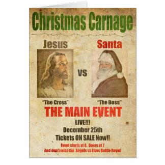 イエス・キリスト対サンタ カード