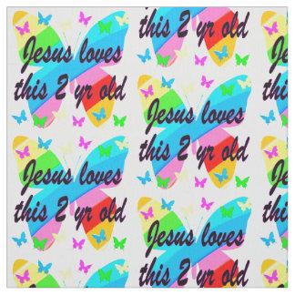 イエス・キリスト愛この2 YR OLDの蝶デザイン ファブリック