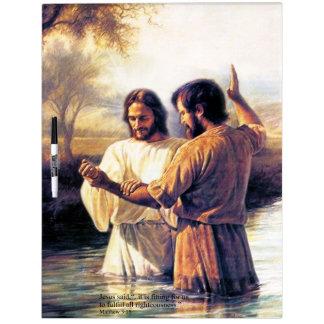 イエス・キリスト洗礼のホワイトボードの選択 ホワイトボード
