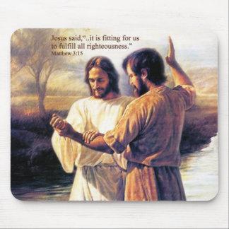 イエス・キリスト洗礼のマウスパッド マウスパッド