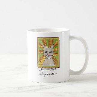 イエス・キリスト猫のスーパースター コーヒーマグカップ