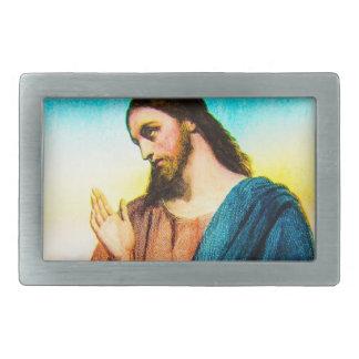 イエス・キリスト神のヴィンテージの子ヒツジ 長方形ベルトバックル