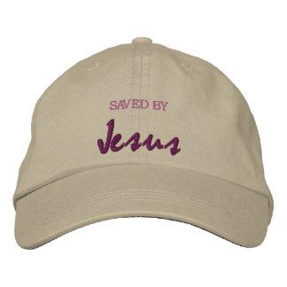 イエス・キリスト著救われる 刺繍入りキャップ