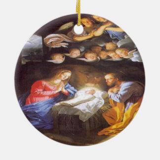 イエス・キリスト誕生 セラミックオーナメント