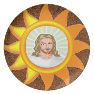 イエス・キリスト輝くで明るい日曜日 プレート