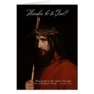 イエス・キリスト-イースターCelebratの油の描写 カード
