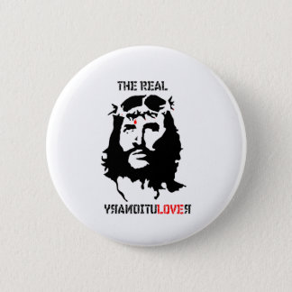 イエス・キリスト-実質の革命家 5.7CM 丸型バッジ
